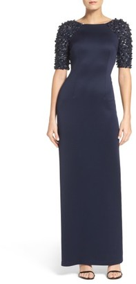 Women's Adrianna Papell Embellished Sleeve Gown $279 thestylecure.com