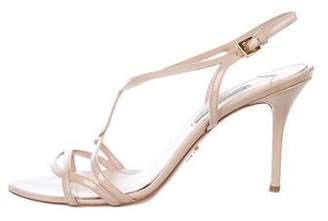 Prada Patent Leather Crossover Sandals