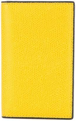 Valextra foldover logo wallet