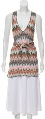Missoni Mare Chevron Knit Sleeveless Tunic