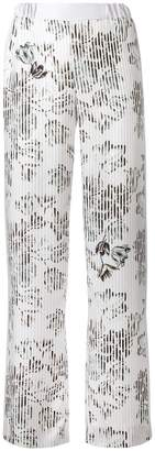 Salvatore Ferragamo wide-leg floral trousers