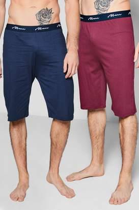 boohoo 2 Pack Jersey MAN Pyjama Shorts
