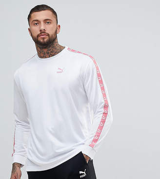 Puma Long Sleeve Tape Soccer Top In White Exclusive To ASOS