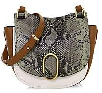 3.1 Phillip Lim Women's Alix Python Print & Leather Saddle Bag