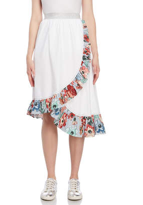 I'M Isola Marras Surplice Printed Trim Skirt