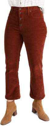 Madewell Cali Button Front Demi-Boot Corduroy Pants