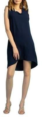Trina Turk Carmel Crepe Sleeveless Shift Dress