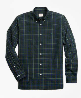 Brooks Brothers Yarn-Dyed Plaid Cotton Poplin Sport Shirt