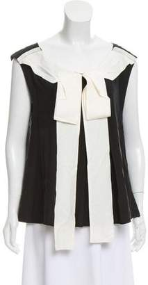 Marc Jacobs Bow-Accented Sleeveless Blouse