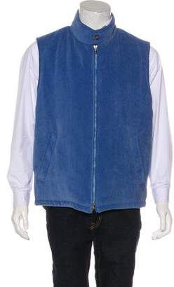 Barneys New York Barney's New York Corduroy Zip-Up Vest