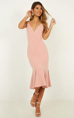 Showpo Get the girls over dress in blush - 6 (XS) Dresses