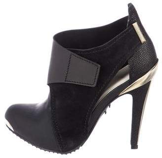 Herve Leger Cutout Ankle Booties