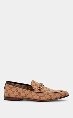 Gucci Men's New Jordaan Canvas Loafers - Beige, Tan