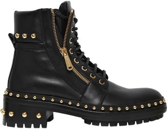 40mm Studded Leather Ankle Boots $1,650 thestylecure.com
