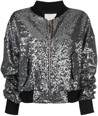Amen sequined bomber jacket