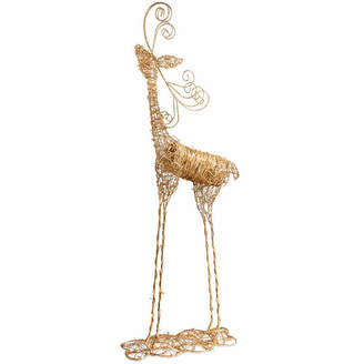 Co NATIONAL TREE National Tree Handcrafted Rattan Deer Animal Figurines