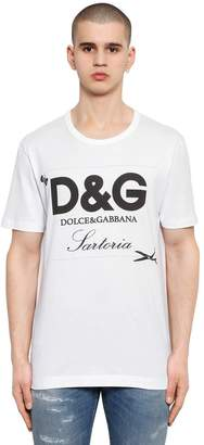 Dolce & Gabbana Sartoria Logo Printed Cotton T-Shirt