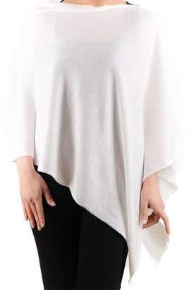 Black White Cotton and Cashmere Poncho