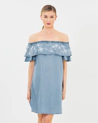 Dorothy Perkins Embroidered Bardot Dress