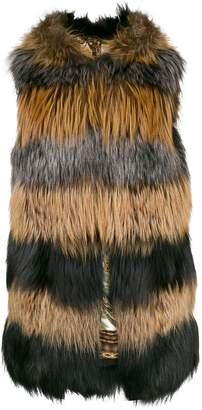 Liska buttoned fur gilet