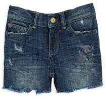 DL Premium Denim Girl's Distressed Denim Shorts