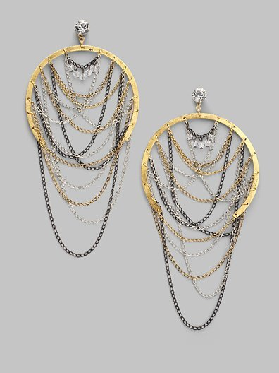 Erickson Beamon Multi-Chain Earrings