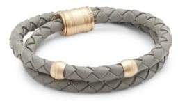 Miansai Stainless Steel & Leather Bracelet