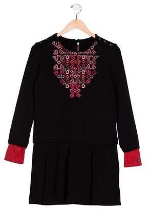 Catimini Girls' Long Sleeve Printed Dress