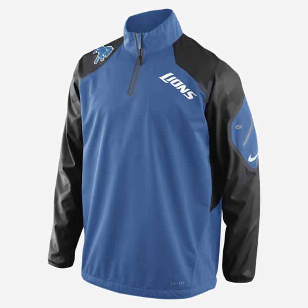 Nike Fly Rush Half-Zip (NFL Lions)