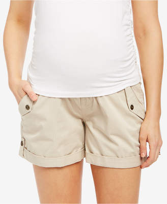 Motherhood Maternity Twill Cuffed Shorts