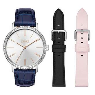 Chaps Women's 'Whitney' Quartz Stainless Steel and Leather Casual WatchMulti Color (Model: CHP9008)