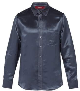 Sies Marjan Sander Satin Shirt - Mens - Blue