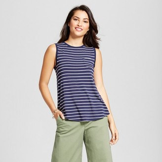 Merona Women's Striped Muscle Tank $10 thestylecure.com