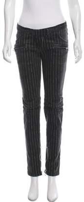 Balmain Pinstripe Low-Rise Jeans