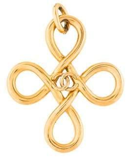 Chanel CC Logo Loop Cross Pendant