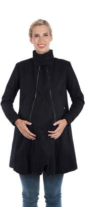 Modern Eternity Womens A-Line Wool Maternity Coat Maternity