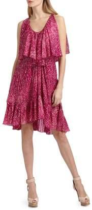 Cynthia Steffe Carey Printed Silk Chiffon Dress