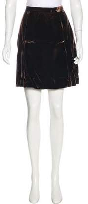 Dolce & Gabbana Knee-Length Velvet Skirt
