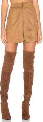 WAYF Warwick Zip Up Mini Skirt $88 thestylecure.com
