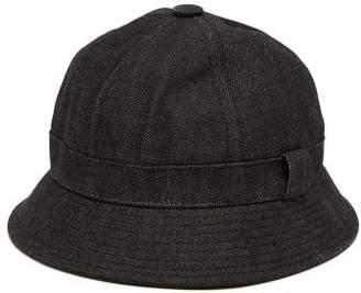 Acne Studios Denim Bucket Hat - Womens - Black