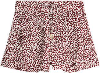 Anine Bing Printed Silk Ashley Shorts