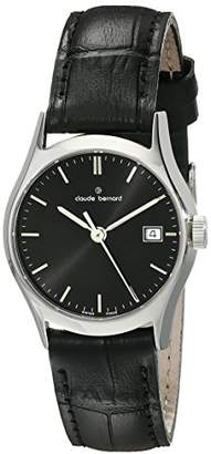 Claude Bernard Women's 54003 3 NIN Classic Ladies Analog Display Swiss Quartz Black Watch