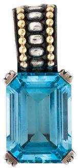 Lagos Caviar Blue Topaz Pendant