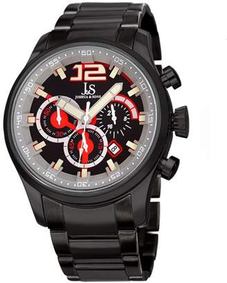 Joshua & Sons Black Casual Quartz Watch With Stainless Steel Strap [JX134BK]