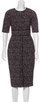 Lela Rose Jacquard Midi Dress