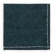 Fairfax Men's Reversible Wool Pocket Square-Green