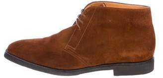 John Lobb Suede Ankle Boots