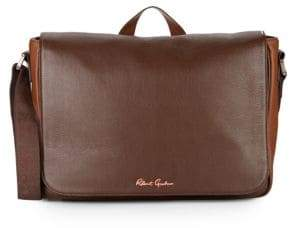 Robert Graham Mulberry Leather Messenger Bag