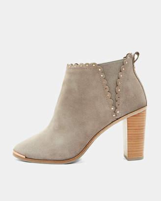 Ted Baker NURELY Scallop stud detail heel boots