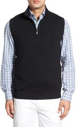 Men's Bobby Jones Quarter Zip Wool Sweater Vest $175 thestylecure.com